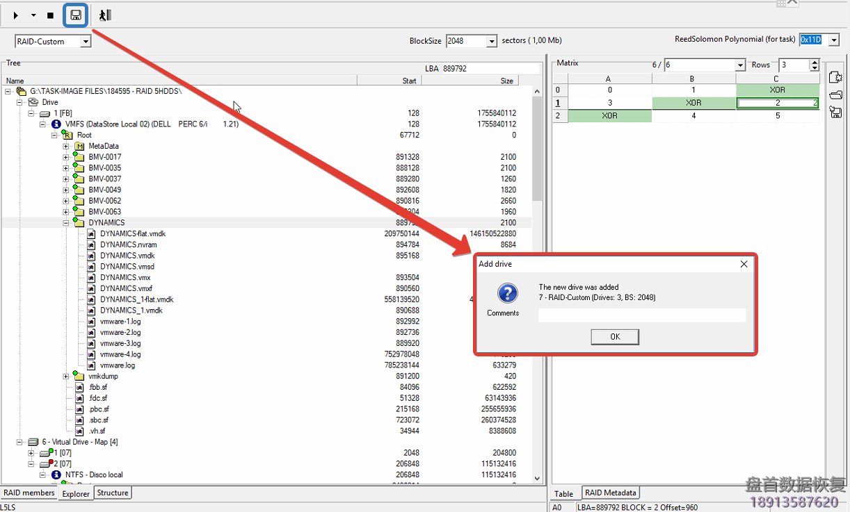 20180629120510_25081 PC-3000 DE. Data Extractor RAID Edition. Where is my data on VMFS? (Practical case)
